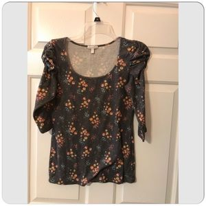 dELiA*s 3/4 Sleeve Floral Print Blouse